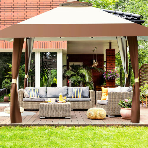 Large Garden Gazebo Marquee Canopy Wedding Party Shelter Pop Up Tent Heavy Duty