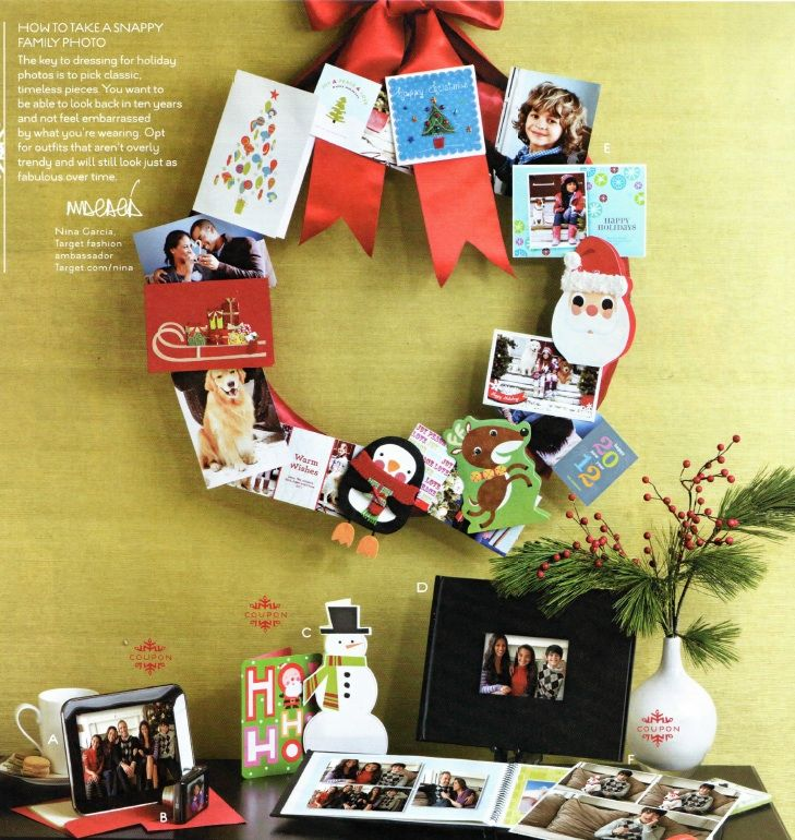Love this idea. Cute way to display christmas cards rather than the ...