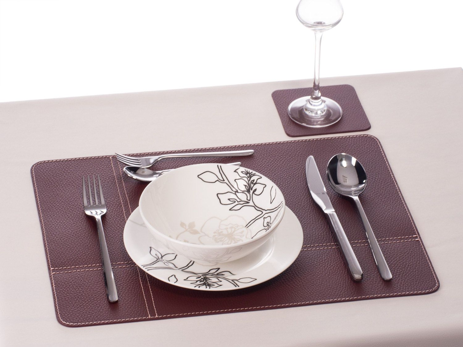 Placemats Set Table Mat Sets With Coasters Recycled Leather