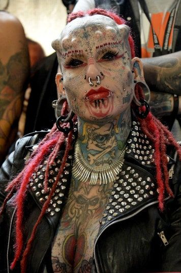 What extreme tattoos and piercings think, that