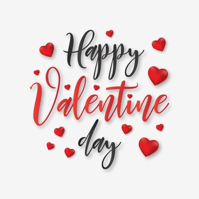 Happy Valentine Day Typography With Hearts Vector Valentine Fancy Valentines Png And Vector With Transparent Background For Free Download Happy Valentines Day Calligraphy Valentines Day Clipart Happy Valentines Day Clipart