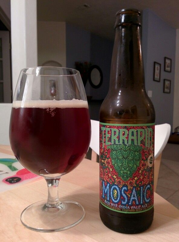 Saturday, May 10, 2014: Mosaic Red Rye IPA, Terrapin Beer Company. http://terrapinbeer.com/brew/seasonal-sessions/mosaic/