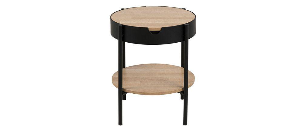 Table D Appoint Bois Et Metal Noir 45cm Suzie Table D Appoint Bois Metal Table Basse