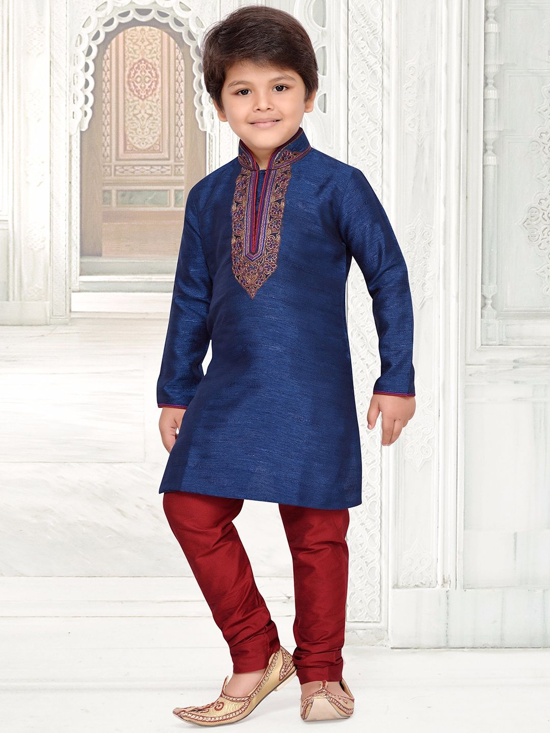 acaf2b4e84 Blue Raw Silk Boys Kurta Suit. Find this Pin and more on Boys Indian Fashion  ...