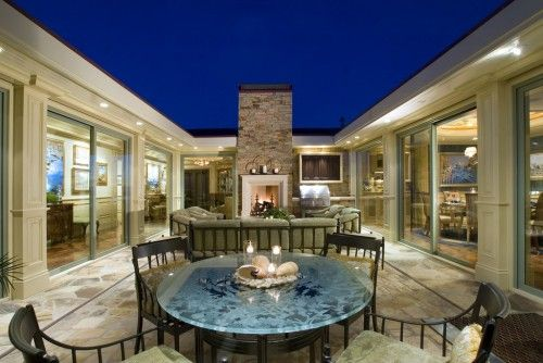 shaped house courtyard design ideas pictures remodel and decor also good ole days pinterest patios newport beach rh