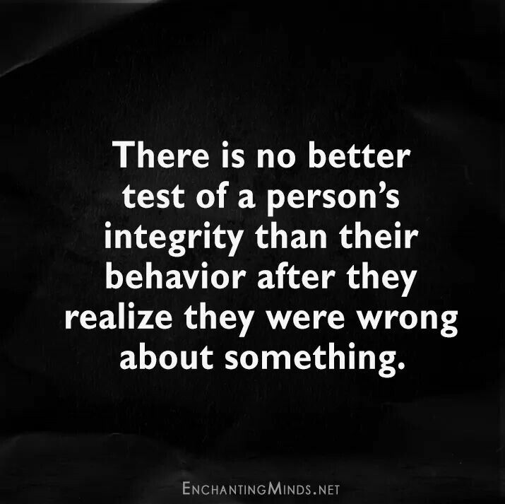 Quote / life integrity apology