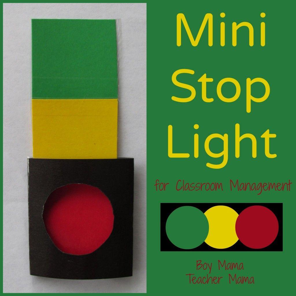 Boy Mama Teacher Mama | Mini Stop Lights for Classroom Management