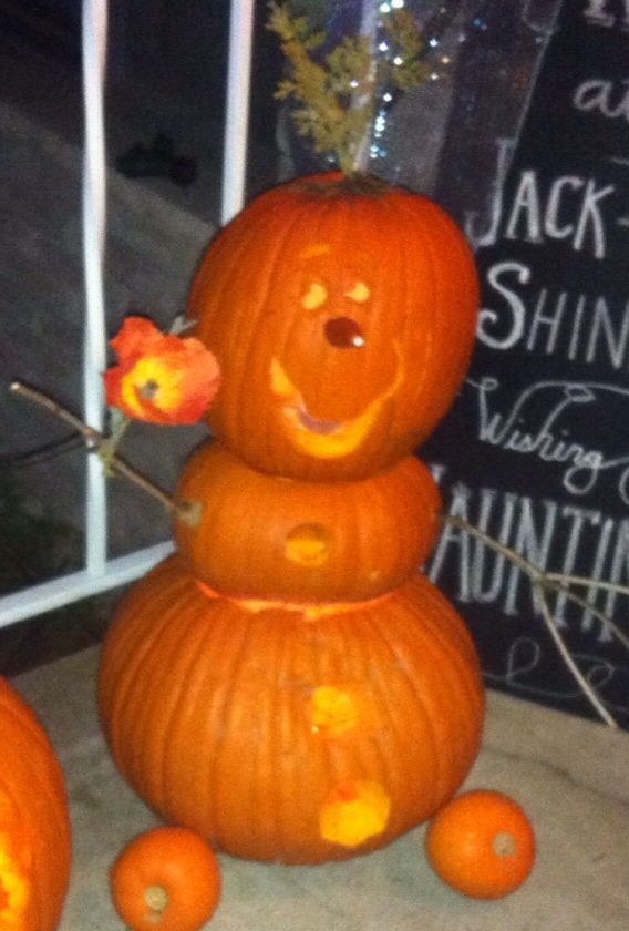 Olaf pumpkin carving
