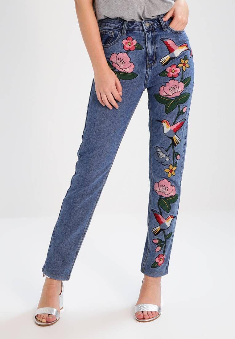 Glamorous. Jeans baggy - mid blue. #zalandoIT Avvertenze:Lavaggio a macchina a 30 gradi. Lunghezza interna della gamba:75 cm nella taglia S. Composizione:100% cotone. Lunghezza della gamba esterna:104 cm nella taglia S. Materiale:Jeans. Lunghe...