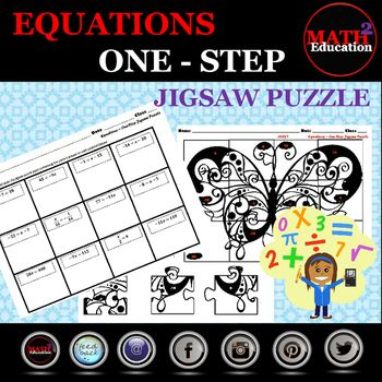 Solving One Step Equations Jigsaw Puzzle | Pinteresting Teachers ...