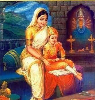 Chhatrapati Shivaji Maharaj with Jijau Mata