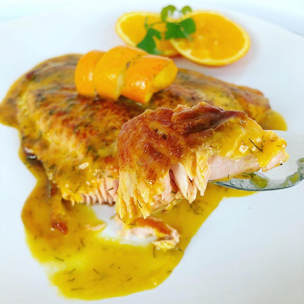 Salmón A La Naranja Con Eneldo Petit Fit By Cris Salmón A La Naranja Pescado A La Naranja Comida Para Diabeticos Recetas