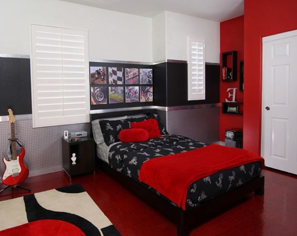 astonishing red black bedroom | bedroom with hot rod paint colors | ... bedroom colors 4 ...