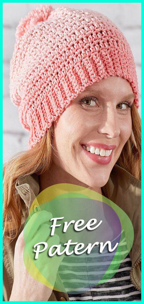 Crochet Ombre Hat Free Pattern Crochet Pinterest Hat Crochet