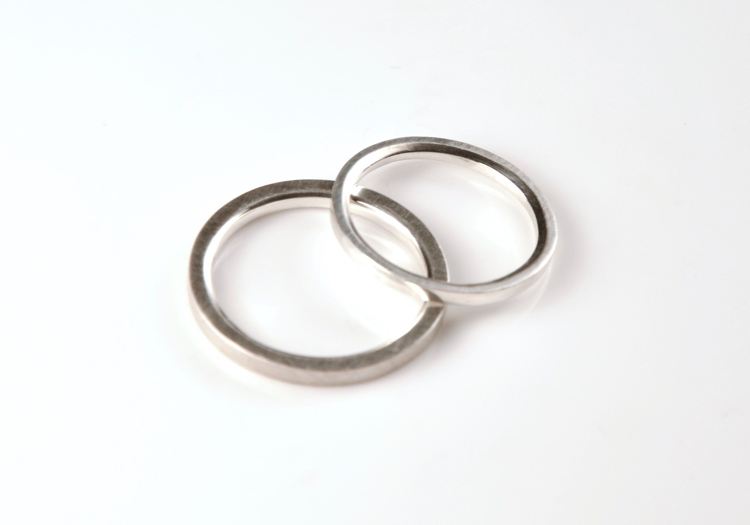 Promise Ring Set Couples Ring Set Engagement Ring Set Thin Wedding