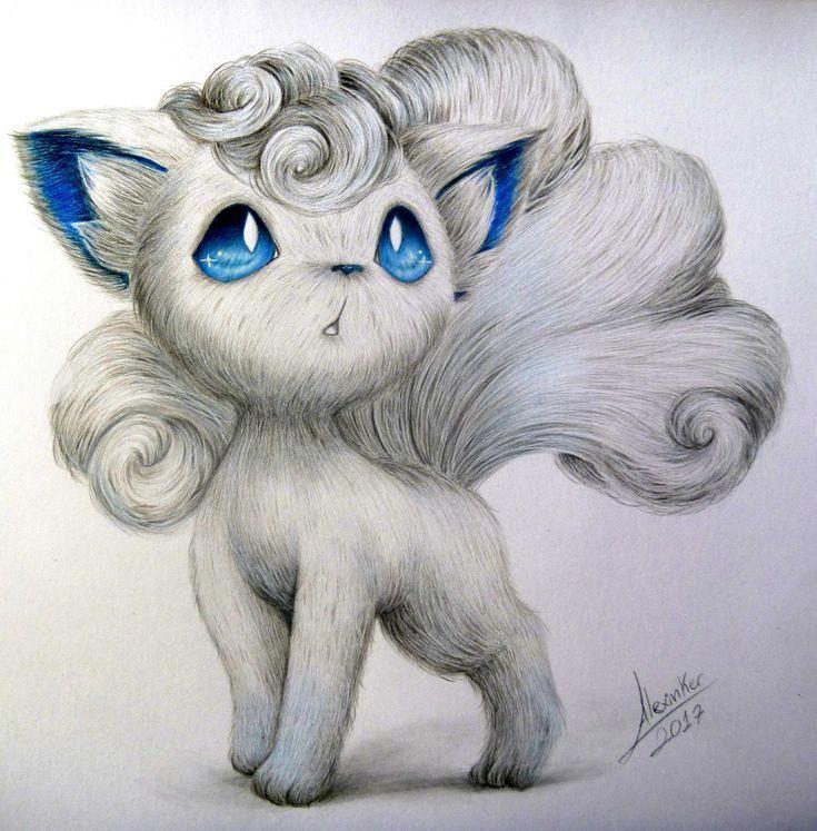 Photo of Vulpix Alola Drawing. I used a reference #pokemon… – #Alola #beto #drawing #P… – Makaron