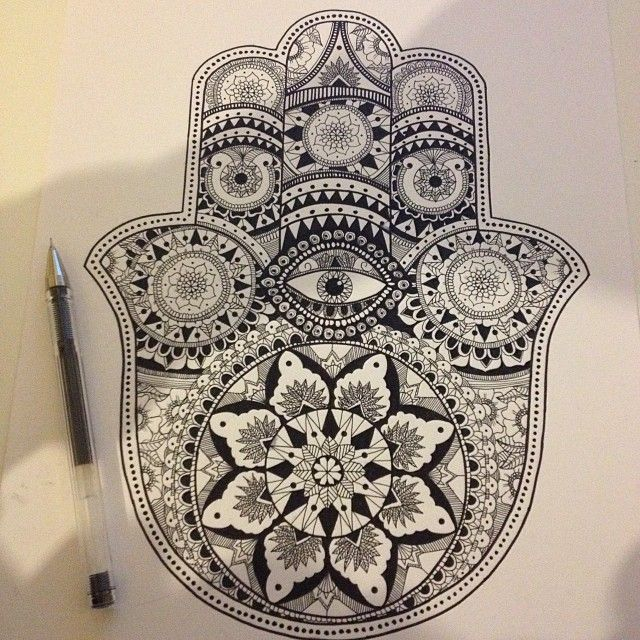 Hamsa Hand Drawing Tumblr Alfred Basha