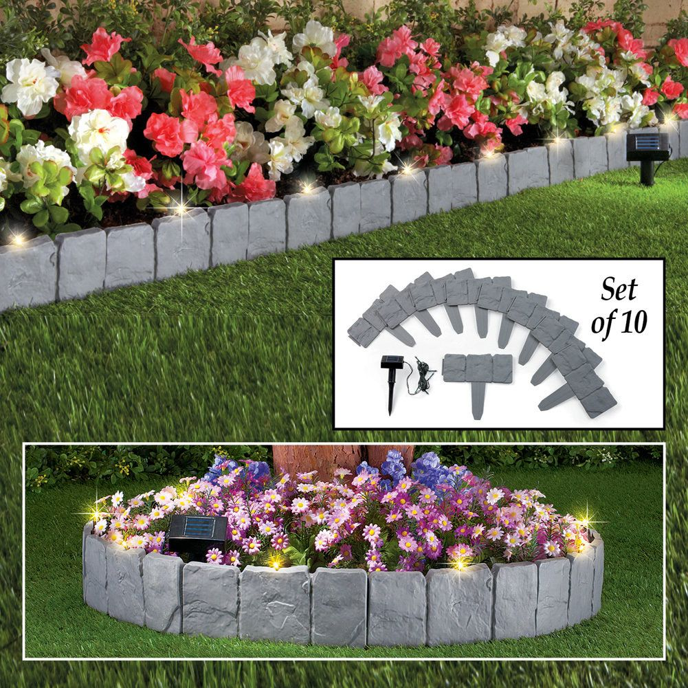 Solar Garden Border Stones, Set of 10 | Discount Home Decor ...