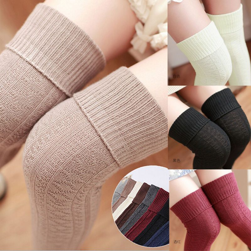de7e58f0d Women Long Sexy Chic Over The Knee Cotton Socks Thigh High Soft Cotton  Stockings