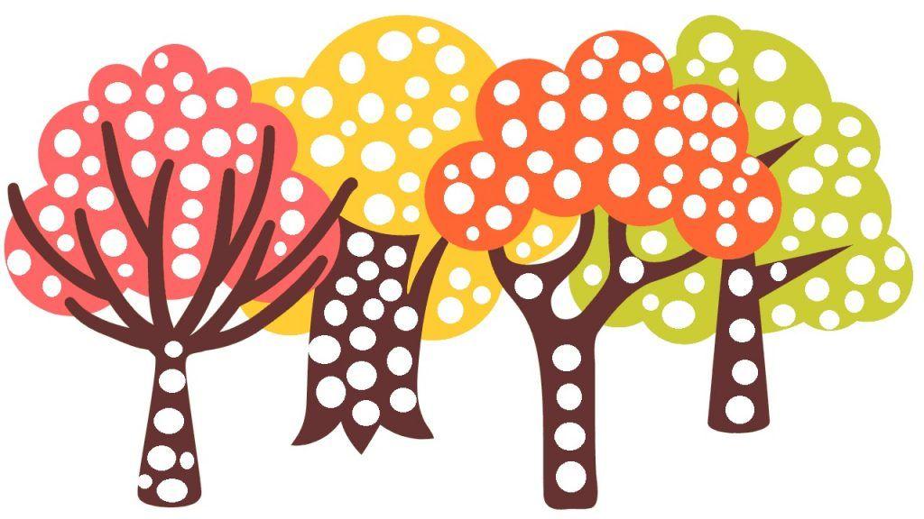 Drzewa Szablon Do Wyklejania Jesień Szablony I Pomysły Na