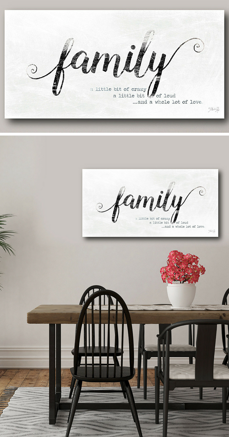 Family sign a little bit of crazy a little bit of loud for Simboli arredamento