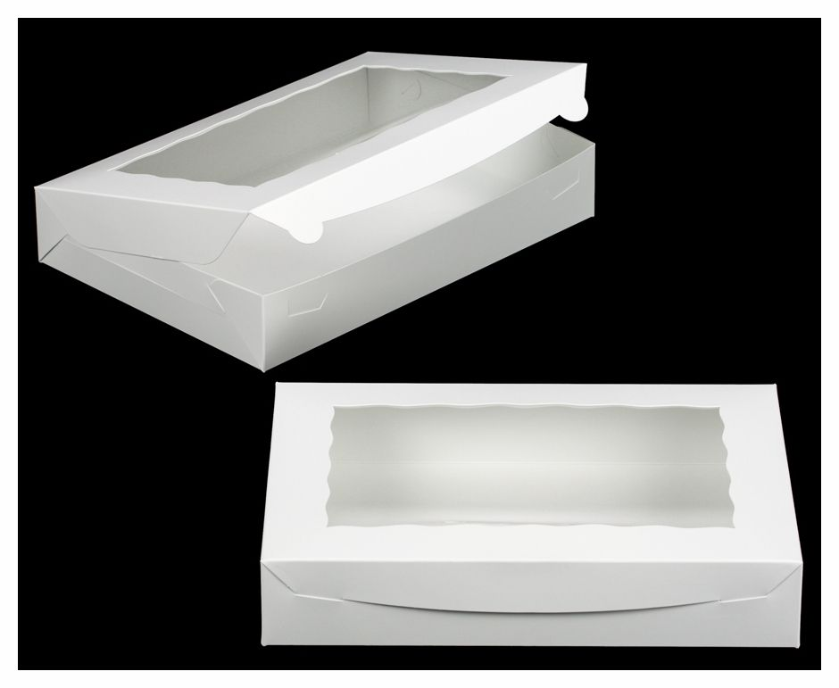 1856 14 X 10 X 2 1 2 White White With Window Lock Tab Box With Lid Paper Box Diy Box With Lid Cake Pop Boxes