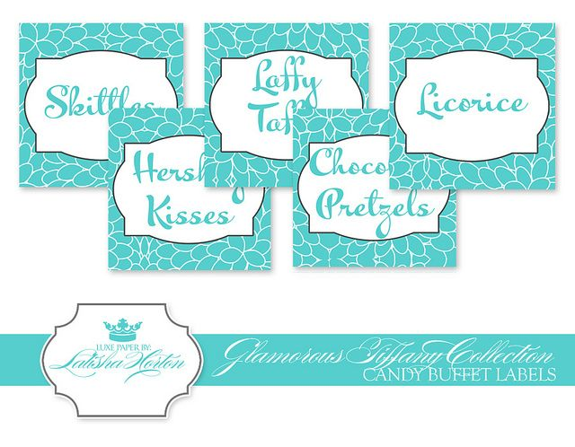 Superb Tiffany Collection Printable Candy Buffet Labels Debut Download Free Architecture Designs Intelgarnamadebymaigaardcom