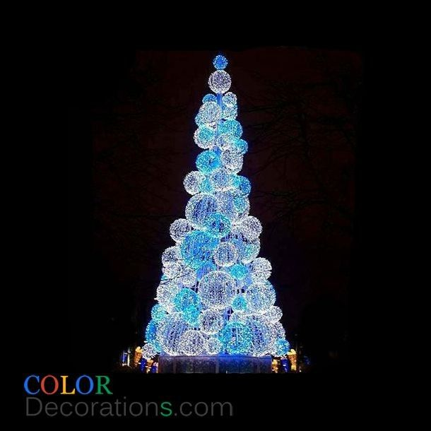 CDTR100 Outdoor Christmas Decorating Tree Spherical Xmas Trees