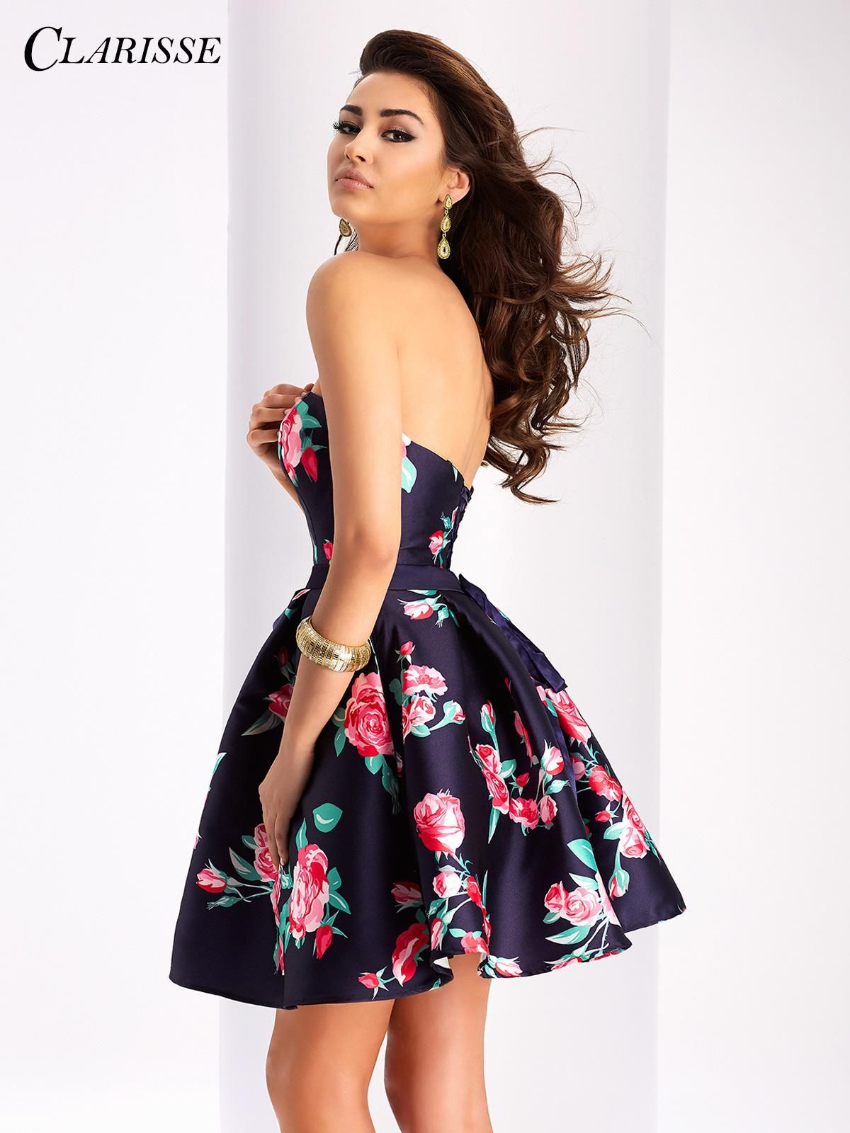 Short floral clarisse prom dress style dance the night
