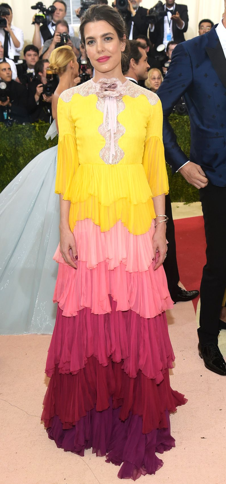 2016 - Charlotte Casiraghi in Gucci at Met Gala in New York | Royals ...