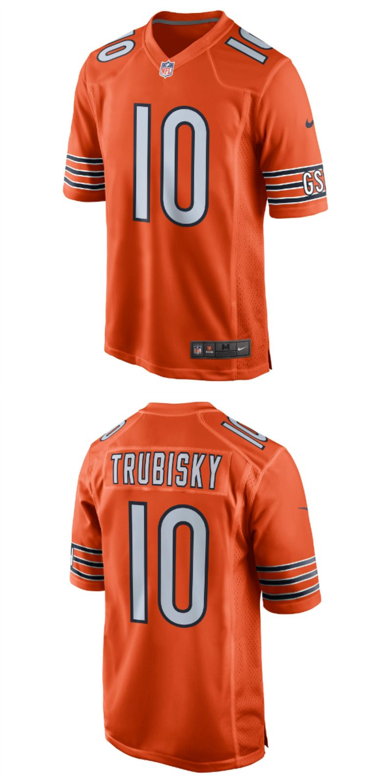 info for 5a0b4 bd47a UP TO 70% OFF. Mitchell Trubisky Chicago Bears Nike ...