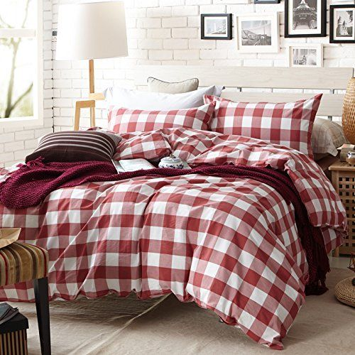 Get The Fit Paisley Textile Bedding For Adult U608 Red Checkered Duvet Cover Set 100 Washed Cotton Twin Queen King Set 3 4 Pieces Farmhouse Bedding Sets Country Bedding Sets Duvet Cover Sets