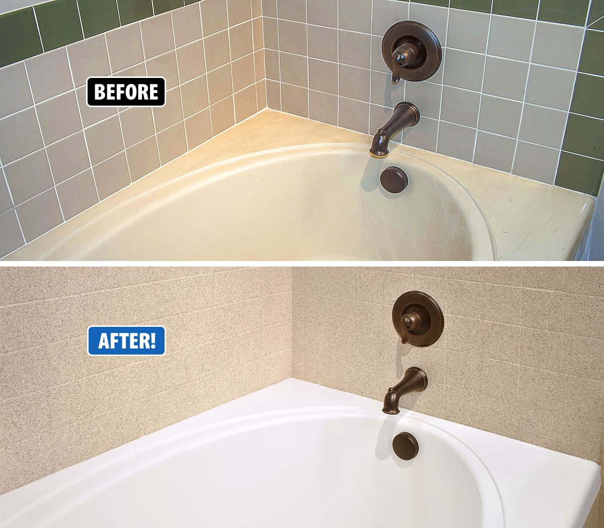 Miracle Method Can Refinishing Your Old Tired Bathtub And Tile And Make Them Look Like Brand New Again A Refinish Bathtub Tub Refinishing Bathroom Refinishing
