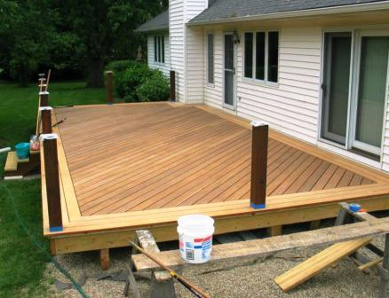 Garapa Deck Boards Were Installed For A Picture Frame On The Deck Building A Deck Diy Deck Deck Flooring