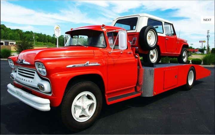 58 Chevrolet Converted Fire Engine Trucks Wedge Haulers