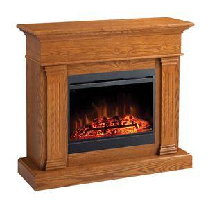 Noble Electric Fireplace Mantel Package In Oak Mef287ok