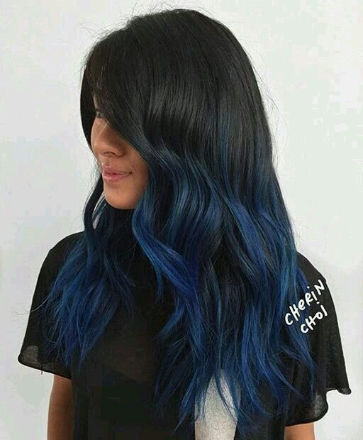 Blue Ombre Eyes Nails Hair Oh My Pinterest Blue Ombre
