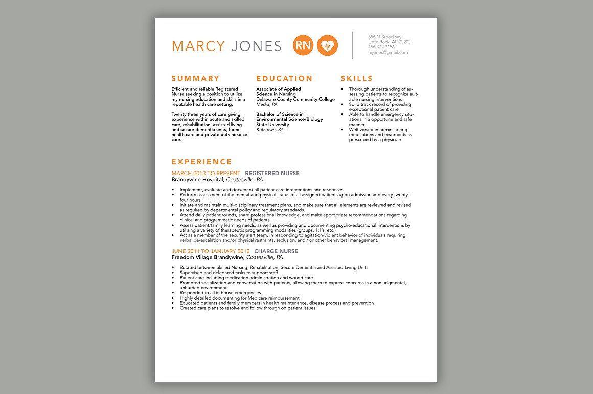 nurse resume  cover letter template