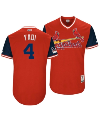 ae472de22ba7f Majestic Men s Yadier Molina St. Louis Cardinals Players Weekend Authentic  Jersey - Red Navy
