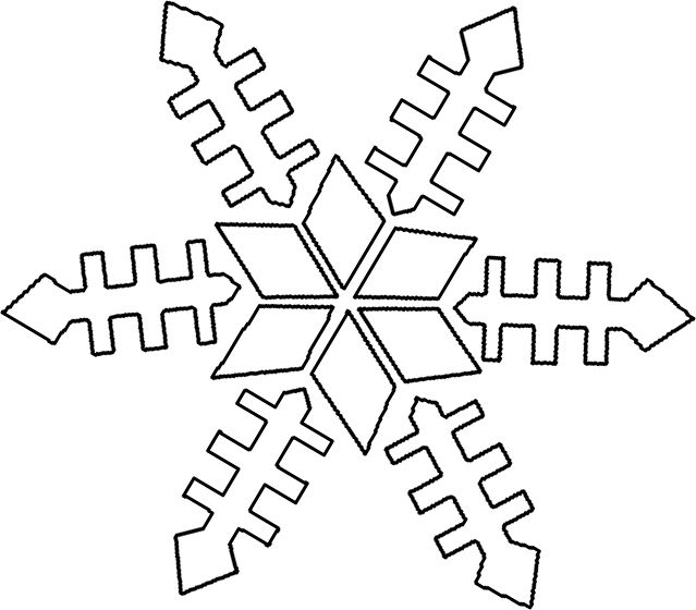 Winter Coloring Pages Kindergarten | ... Preschool Resourcessnowflake Winter  Preschool Coloring Sheet