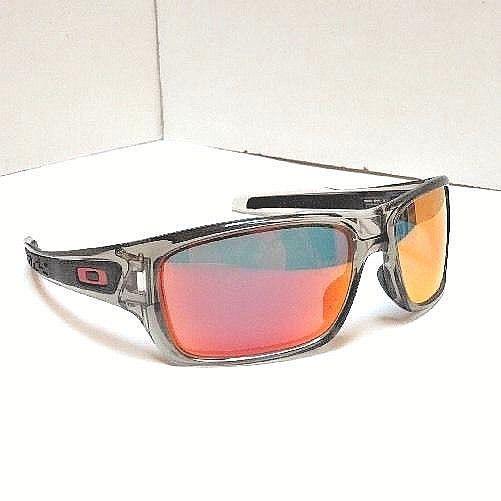68ecdfeceb Oakley OO 9263-10 TURBINE Grey Ink Frame   Ruby Iridium Polarized Lenses   iridium