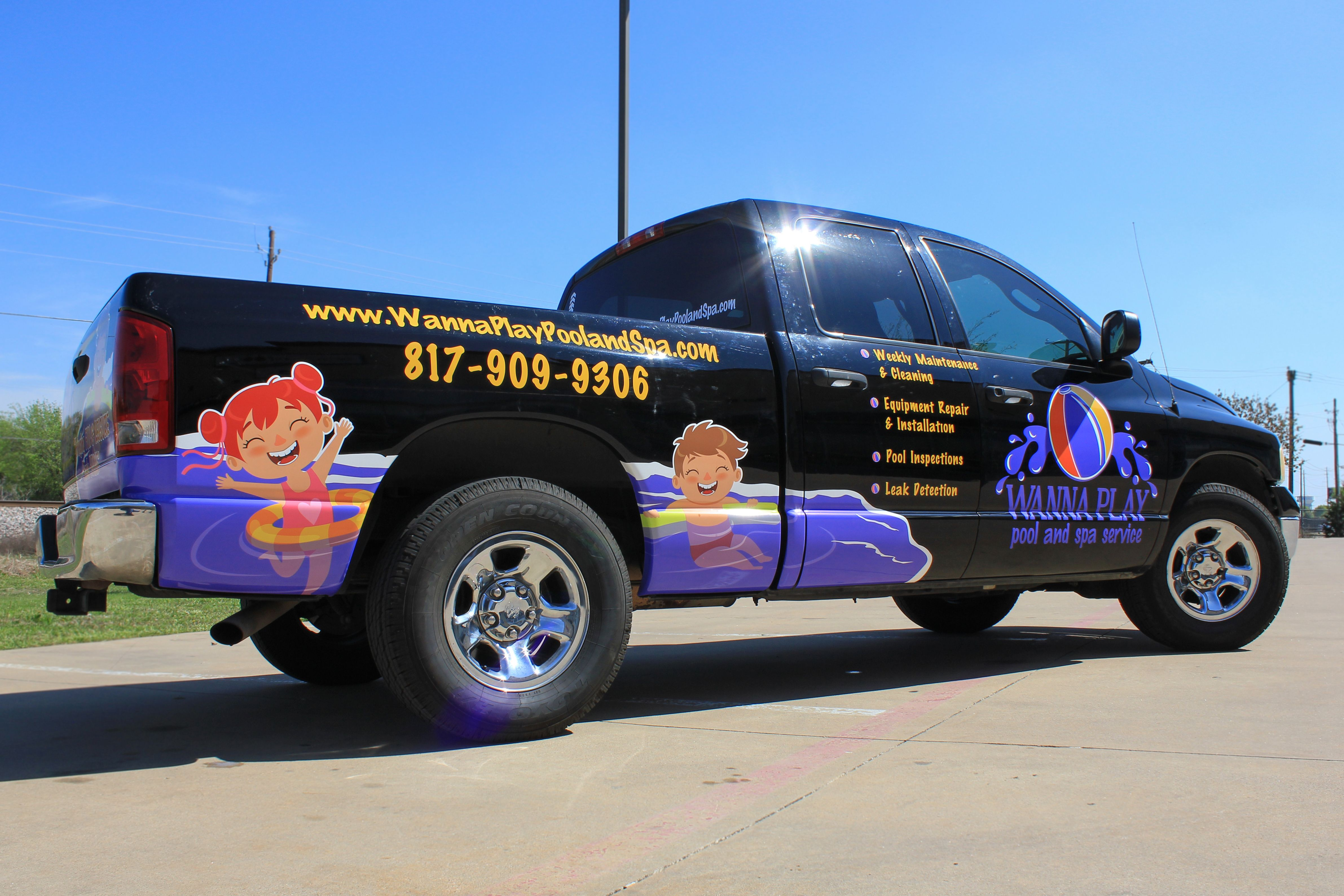 Fleet Truck Graphics Pool Services Advertising Small Business