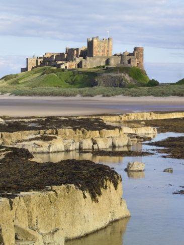 Bamburgh Castle On The Beach By Paul Thompson