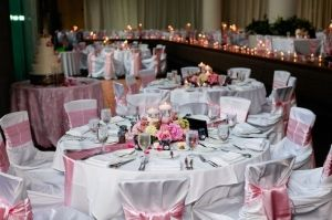 Pink Wedding Decor Candle Wedding Decor Wedding Coordination: Signature Weddings by Candice Photos: Jeffrey Franks Photography by DeeDeeBean