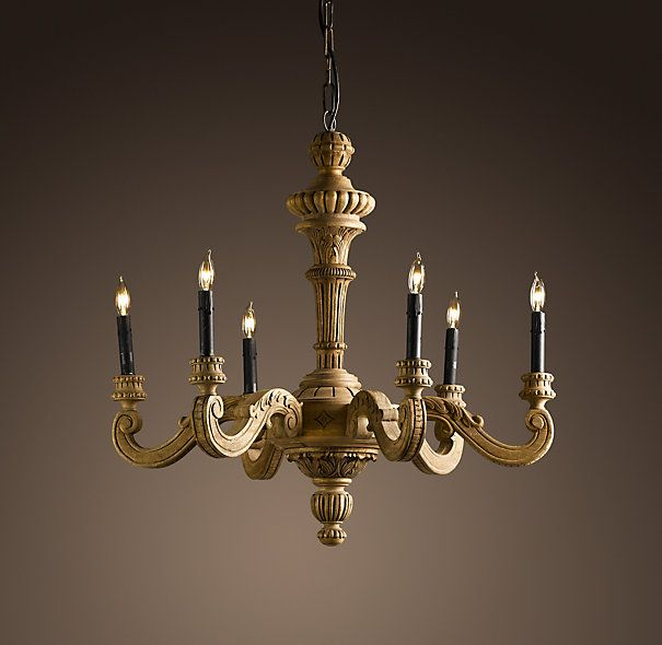 French Baroque Wood Chandelier Small Exquisitely Hand Carved Of Solid Our Reproduction A Displays The Robust Scrollwork