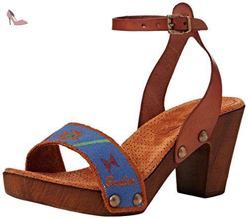 Sandal, Sandales Compensées Femme - Multicolore (Ice), 39 EUBunker