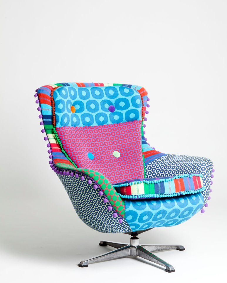 Funky chair. Would love to have it in the corner of my ...