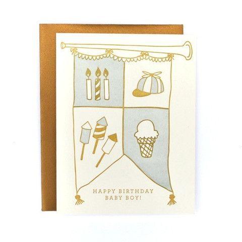 Birthday Boy Crest Card   at Amelia ameliapresents.com