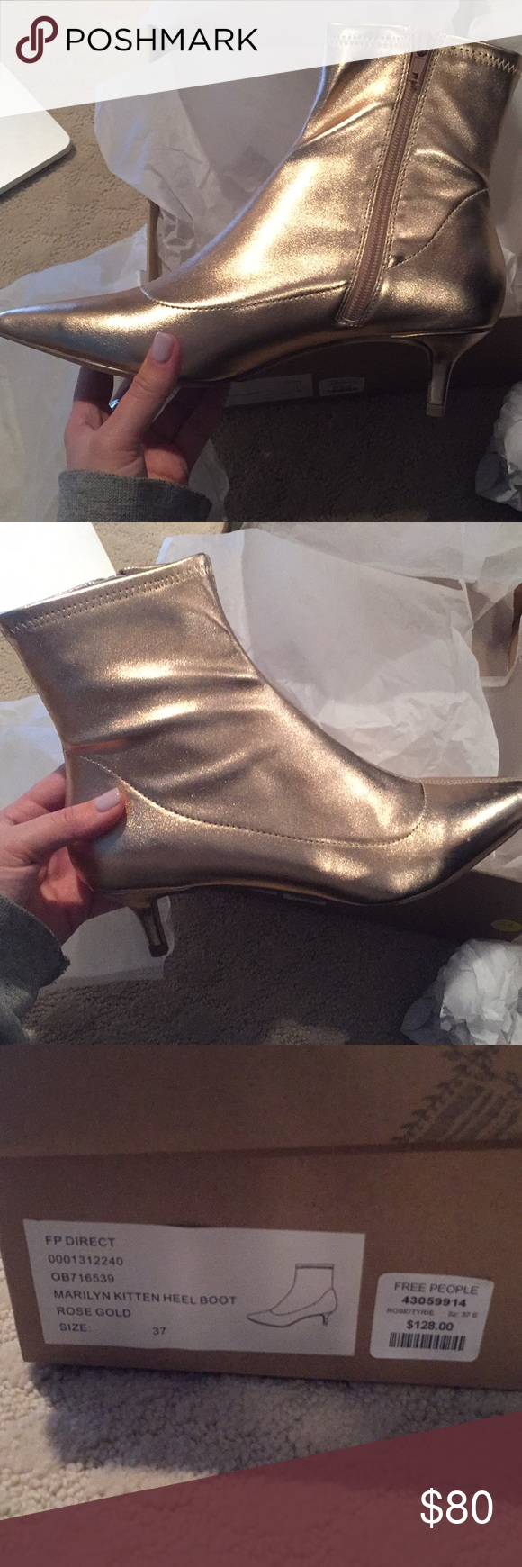 2d3baa78ea4 Free people Marilyn Kitten Heel Brand new still in the box with all the  original wrappings. Beautiful rose gold color. Size 7. If you would like to  see more ...