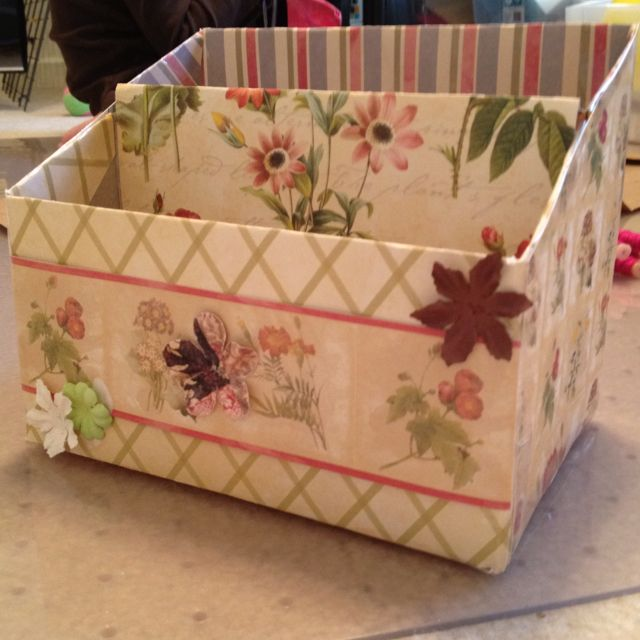 Craft box organizer made from cereal box scrap paper and for What type of cardboard are cereal boxes made of
